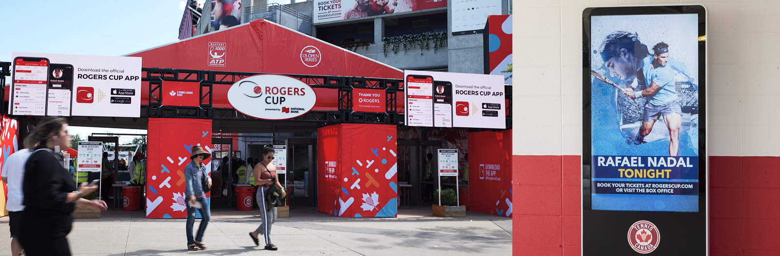 Rogers Cup Site Video Screens