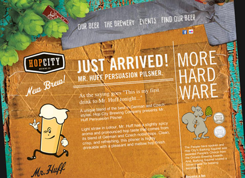 Moosehead Breweries' Hop City Website