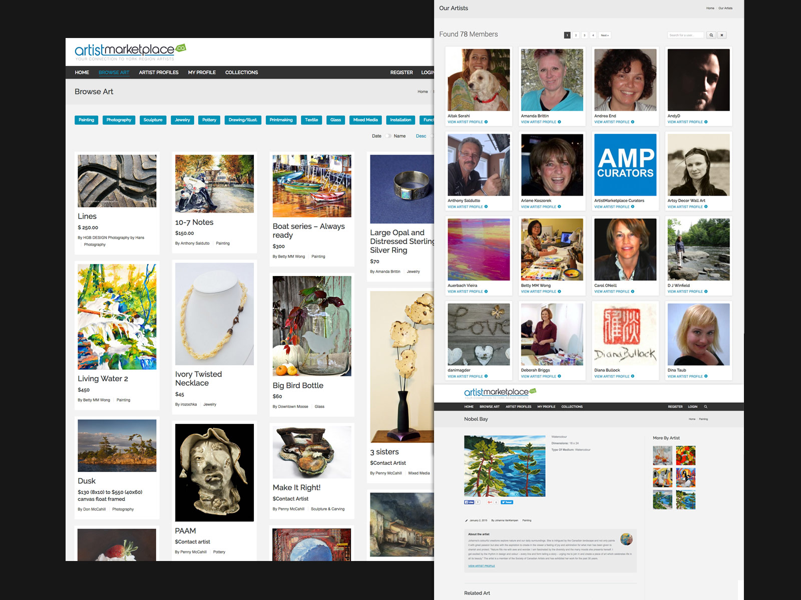Artist Marketplace - Web Pages
