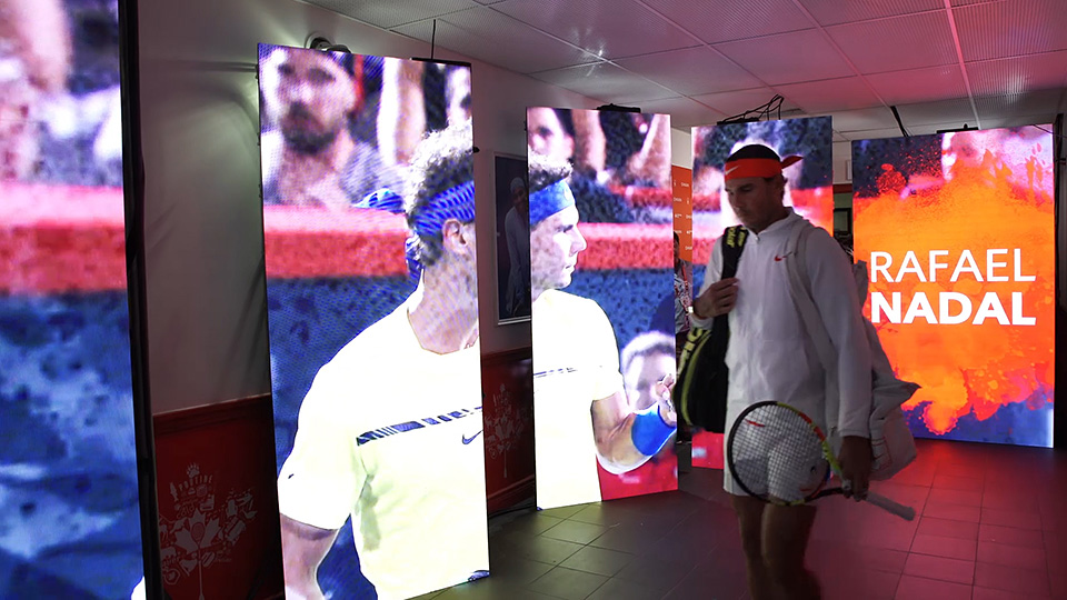 Rogers Cup Player Tunnel Walkout – Live Motion Visuals